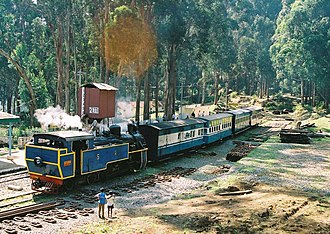 Nilgiri Mountain Railway - Image: NMR train at Ketti 05 02 26 75