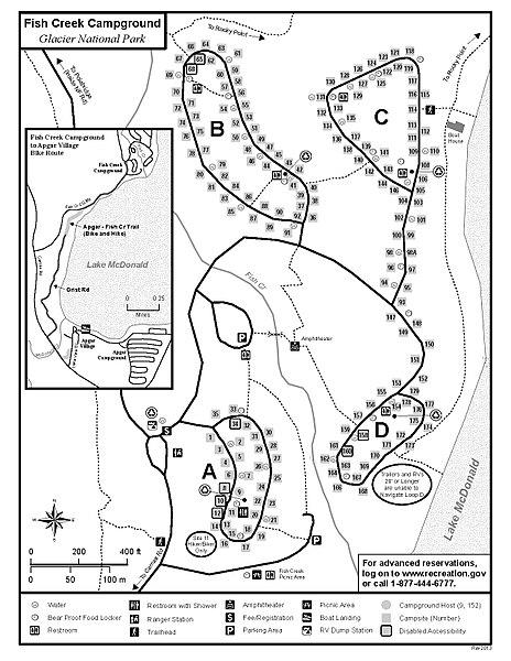 File Nps Glacier Fish Creek Campground Map Jpg Wikimedia
