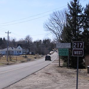 Nova Scotia Route 217 - Nova Scotia Route 217 in Seabrook, just outside Digby, Nova Scotia