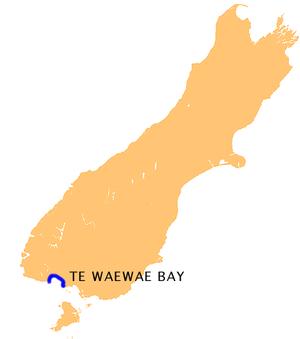 Te Waewae Bay - Location of Te Waewae Bay
