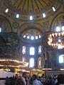 Name of Allah & Prophet Muhammad in Arabic and picture of Mother Merry in Hagia Sophia, April 2013 3.JPG