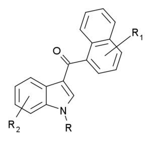 Structural scheduling of synthetic cannabinoids - Naphthoylindoles, where R, R1 and R2 are as defined in the statute