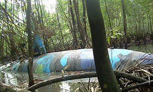 Narco-submarine - A narco-submarine seized in Ecuador in July 2010