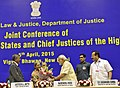 "Narendra Modi at the ""Joint Conference of Chief Ministers of States and the Chief Justices of the High Courts"", in New Delhi. The Union Minister for Law & Justice, Shri D.V. Sadananda Gowda and the Chief Justice of India.jpg"