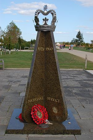 Conscription in the United Kingdom - National Service (1939–1960) memorial at the National Memorial Arboretum