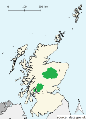 National parks of Scotland - Map of national parks of Scotland