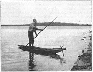 Canoe - Bark canoe in Australia, Howitt 1904