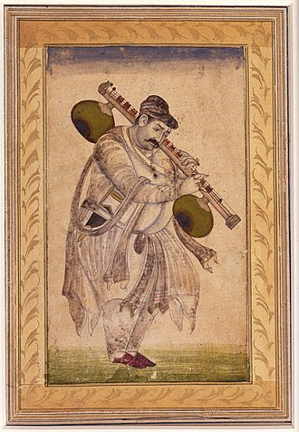 Naubat Khan - Portrait of Naubat Khan Kalawant, San Diego Museum of Art, Edwin Binney 3rd Collection