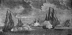 USS Wasp (1814) - Engraving by Abel Bowen