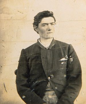 Ned Kelly - Police mugshot of Kelly, aged 15