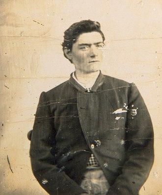 Ned Kelly - Police mugshot of Kelly, aged 15