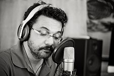 Neelesh Misra records his poem.jpg