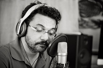 Neelesh Misra - Neelesh Misra during a recording of his poems Purane Khat.