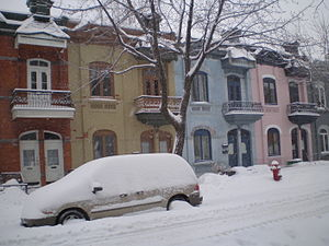 Le Plateau-Mont-Royal - Typical residential street in the Plateau.