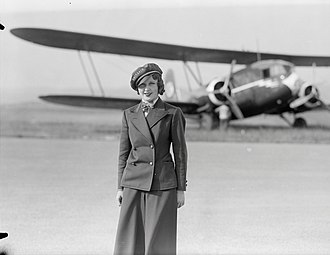 Flight attendant - Nelly Diener, the first air stewardess in Europe, in 1934. She died later that year.