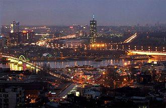 New Belgrade - New Belgrade by night