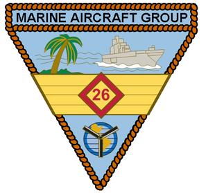 Marine Aircraft Group 26 - MAG-26 insignia