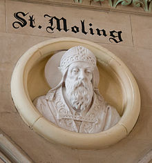 New Ross Church of St. Mary and St. Michael Nave West End Relief of Saint Moling Detail 2012 09 04.jpg