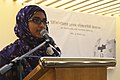 New Wikipedian sharing her experiences at Wikipedia 15 celebration in Bangladesh (01).JPG