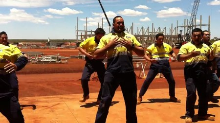File:New zealand maori haka at karara mine site in western australia.webm
