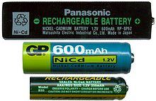 Nickel–cadmium battery - Wikipedia