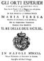 Nicola Conforto - Gli orti esperidi - titlepage of the libretto - Naples 1751.png