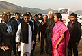 Nirmala Sitharaman inspecting the site for Trade-cum-Permanent Exhibition Centre and the Minister of Commerce & Industry, Manipur, Shri Govindas Konthoujam along with the Central and State Government officials, in Imphal.jpg