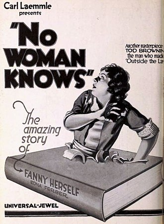 No Woman Knows - Advertisement