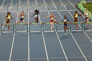 Athletics at the 2016 Summer Olympics – Women's 400 metres hurdles - Image: Noite de atletismo no Engenhão 1038907 18.08.2016 ffz 7832