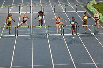 Athletics at the 2016 Summer Olympics – Women's 400 metres hurdles - Image: Noite de atletismo no Engenhão 1038907 18.08.2016 ffz 7832