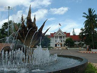 Nong Khai Town in Nong Khai Province, Thailand
