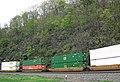 Norfolk Southern Railway container train (10 May 2016; Horseshoe Curve, Pennsylvania, USA) 7 (26446563664).jpg