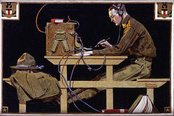 Norman Rockwell: U.S. Army Teaches a Trade (G.I. Telegrapher)