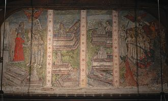 Doom paintings - St Mary's Church, North Leigh, Oxfordshire, 15th century
