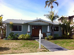 Dryden Historic District (San Diego) - Image: North Park Dryden Historic District House 2