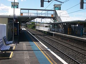 North Wollongong railway station - Northbound view from Platform 1 in January 2008