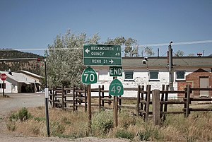 California State Route 49 - North end of Highway 49, at intersection with CA Hwy 70 in Vinton