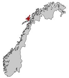 Vesterålen Wikipedia - Vesteralen norway map