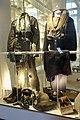 Norwegian military uniforms. 1980s Airforce (Luftforsvaret) fighter pilot (jagerflyger) flying suit 1960s Navy (Sjøforsvaret) quartermaster (kvartermester) life belt cap helmet shoes etc Forsvarsmuseet Oslo 2020-02-25 3283.jpg