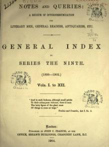 Notes and Queries - Series 9 - General Index.djvu