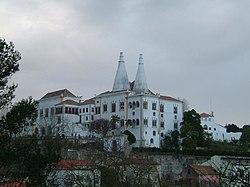 Palácio de Sintra: traseiras.