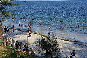 Nyali Beach from the Reef Hotel during high tide in Mombasa, Kenya 33.jpg