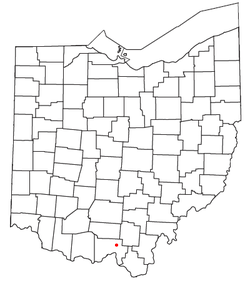 Location of Mule Town, Ohio