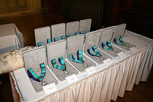 Ontario Medal for Young Volunteers - Medals awaiting presentation at the 2007 investiture.