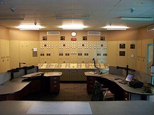 Moses-Saunders Power Dam - R.H. Saunders control room.