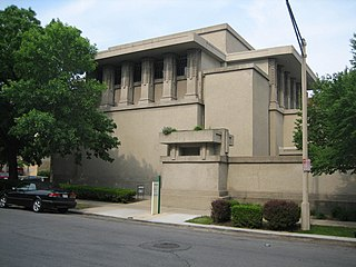 Unity Temple church in Oak Park, Illinois