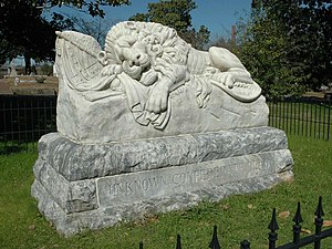 Oakland Cemetery (Atlanta) - Lion of the Confederacy
