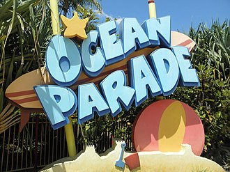 Ocean Parade (Dreamworld) - Image: Ocean Parade sign (Dreamworld)