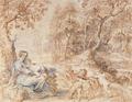Odpoczynek w czasie ucieczki do Egiptu - rysunek Rubensa.png