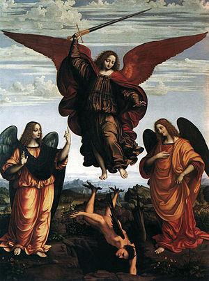Marco d'Oggiono - Pala dei Tre Arcangeli, Pinacoteca di Brera, Milan